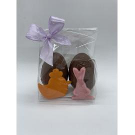 Húsvéti üreges dupla tojás, nyuszival